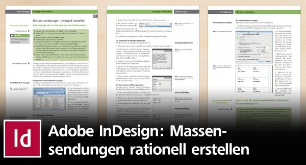 Wie Sie Massensendungen in InDesign rationell erstellen