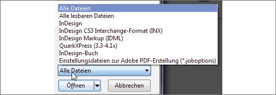 indesign dateien öffnen freeware