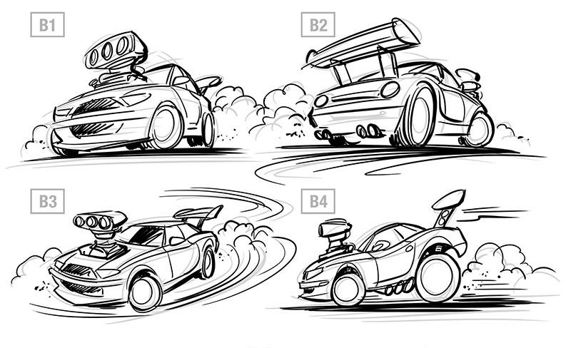 Funny-Cars-Illustrationen (Auto-Karikaturen) in Illustrator ...