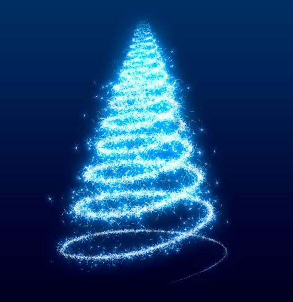 Licht und funkenflug ein stimmungsvolles for Photoshop weihnachtskarte