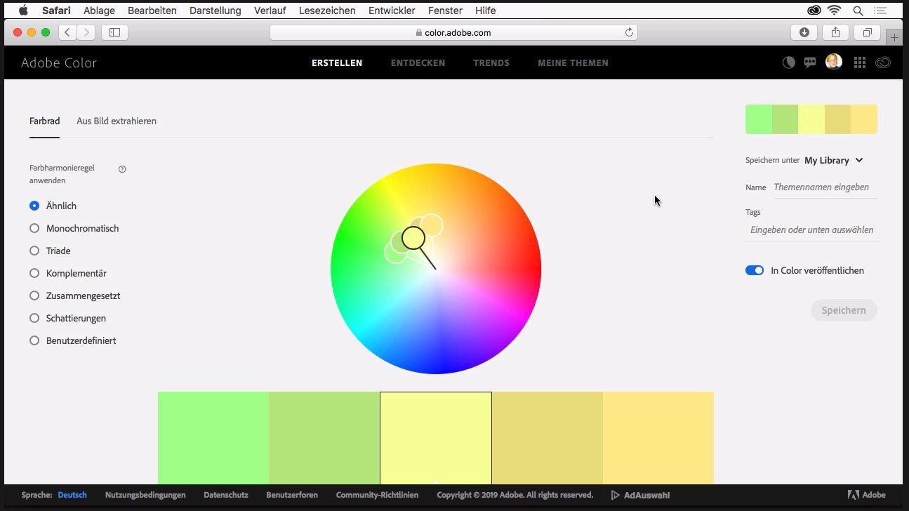 Wie Sie Eigene Farbharmonien Und Farbpaletten Erzeugen Und In Illustrator Verwenden Creative Aktuell