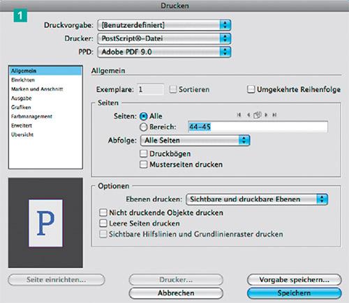Neuen Drucker zum Schreiben von PostScript-Dateien anlegen ...